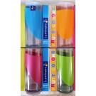 Vasos Cristal Colores LUMINARC Pack de 3